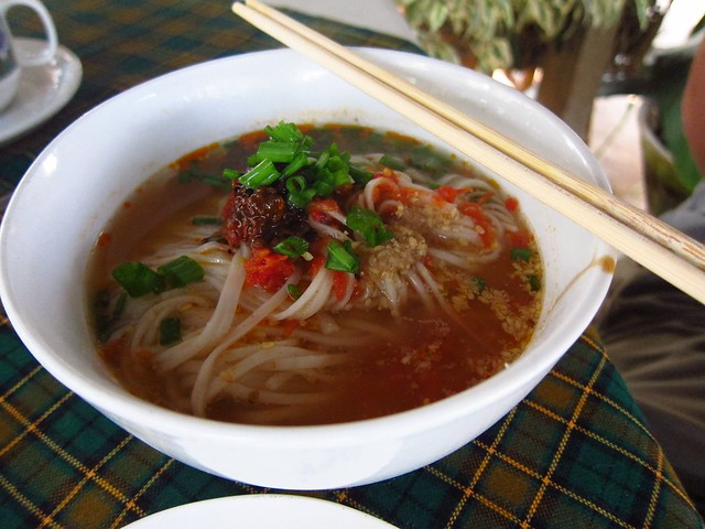 Shan Noodles for Breakfast at Mr, Charles Guest House