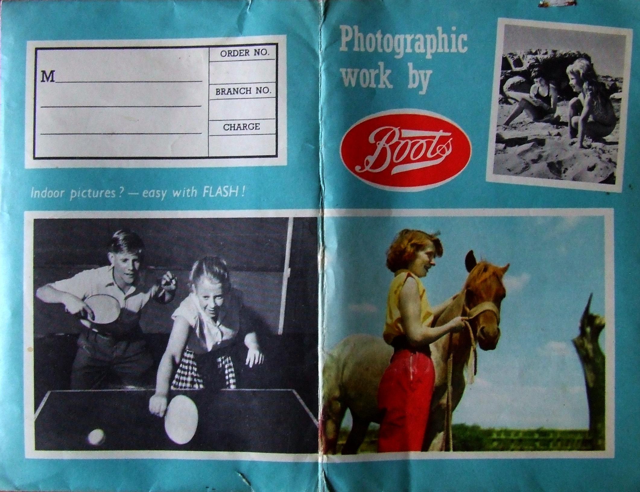 Boots Film Wallet - 1960's