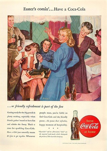 1946 COCA-COLA EASTER IS COMING by roitberg