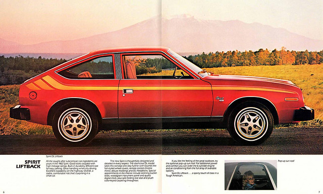 1982 AMC Spirit Liftback brochure page