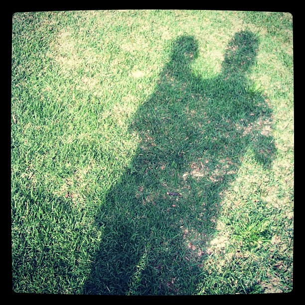 My shadow. I'm a little out of order here. #photoadayapril