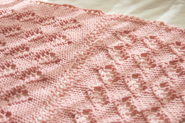 bulky pink shawl