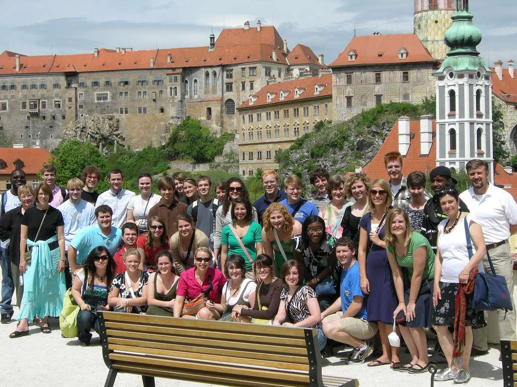 Mississippi College Singers in Cesky Krumlov, Czech Republic