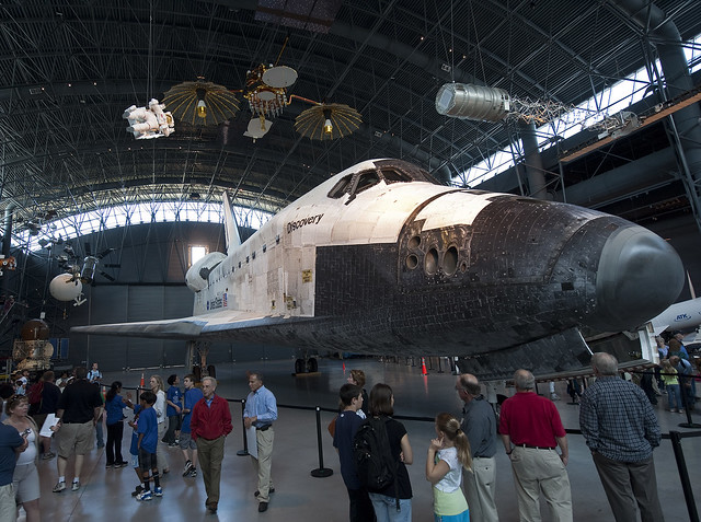Space Shuttle Discovery on Display on Display at the Udvar ...