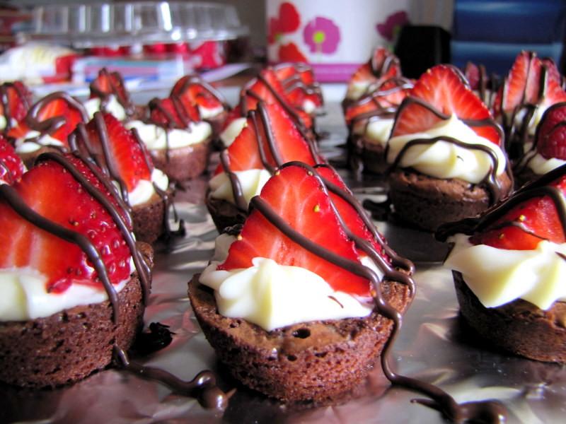 Decorated Brownie Bites Recipes — Dishmaps