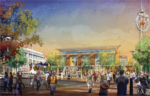 rendering of planned community center (by: City of Renton)