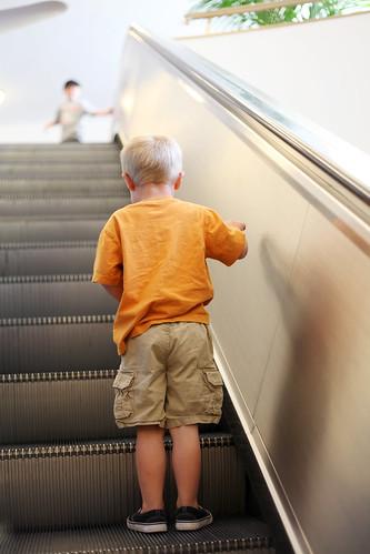 escalator landen