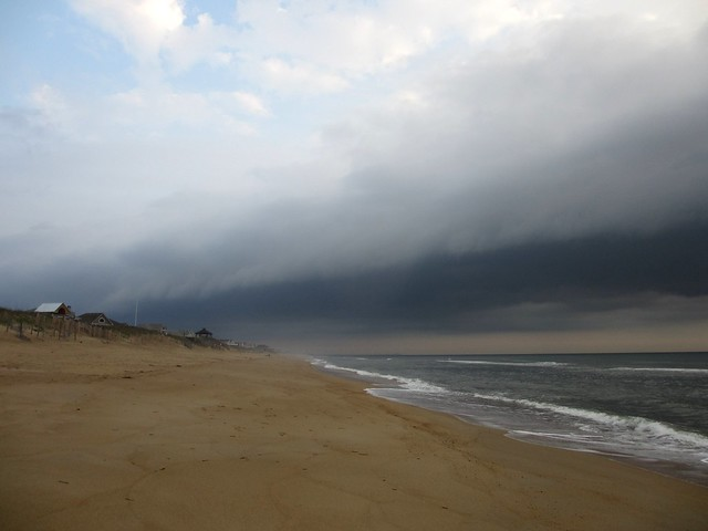Gathering storm at the beach.