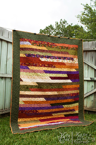 Jelly Roll Race Quilt Finished