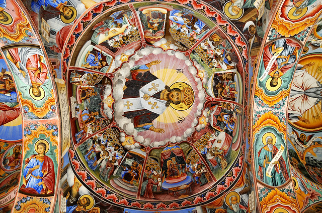 Fresco en el Monasterio de Rila. Bulgaria.
