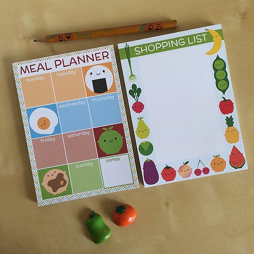 My new magnetic shopping list pads are now available online. Pick up a meal planner too and you'll save £2!