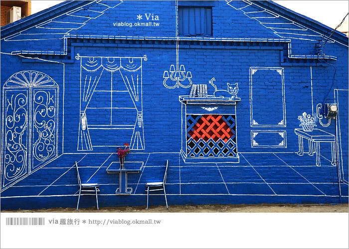 【彰化景點推薦】乳牛彩繪村(福寶村)~數百頭彩色小牛+夢幻藍晒圖的彩色村29