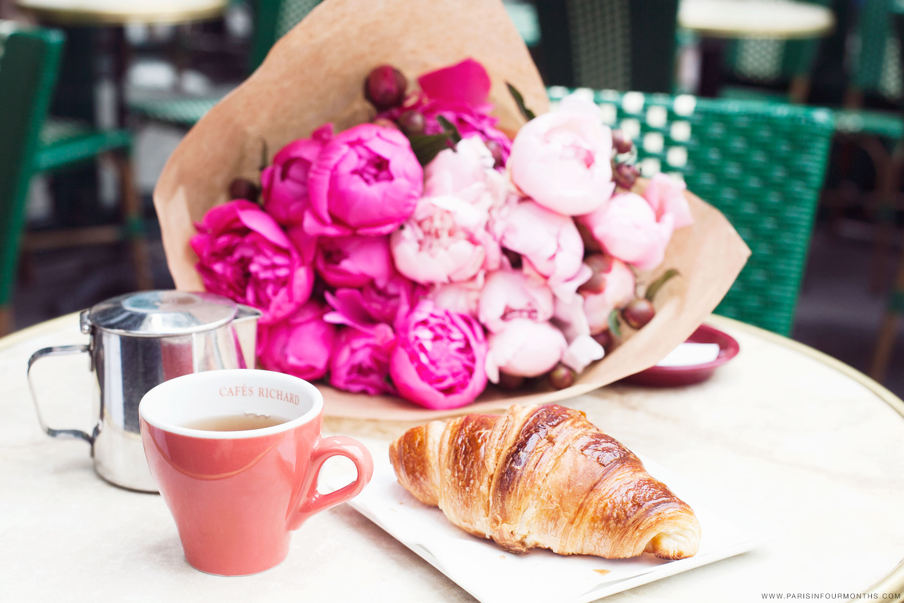 Parisian breakfast by Carin Olsson (Paris in Four Months)