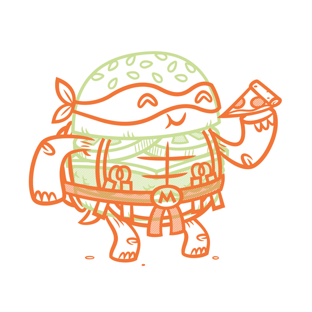 Cheeseburger Michelangelo
