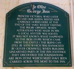 Photo of Victoria and Ye Olde George Inn, Christchurch green plaque
