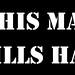 "B&W AMT ""This Machine Kills Hackers"" sticker by albill"