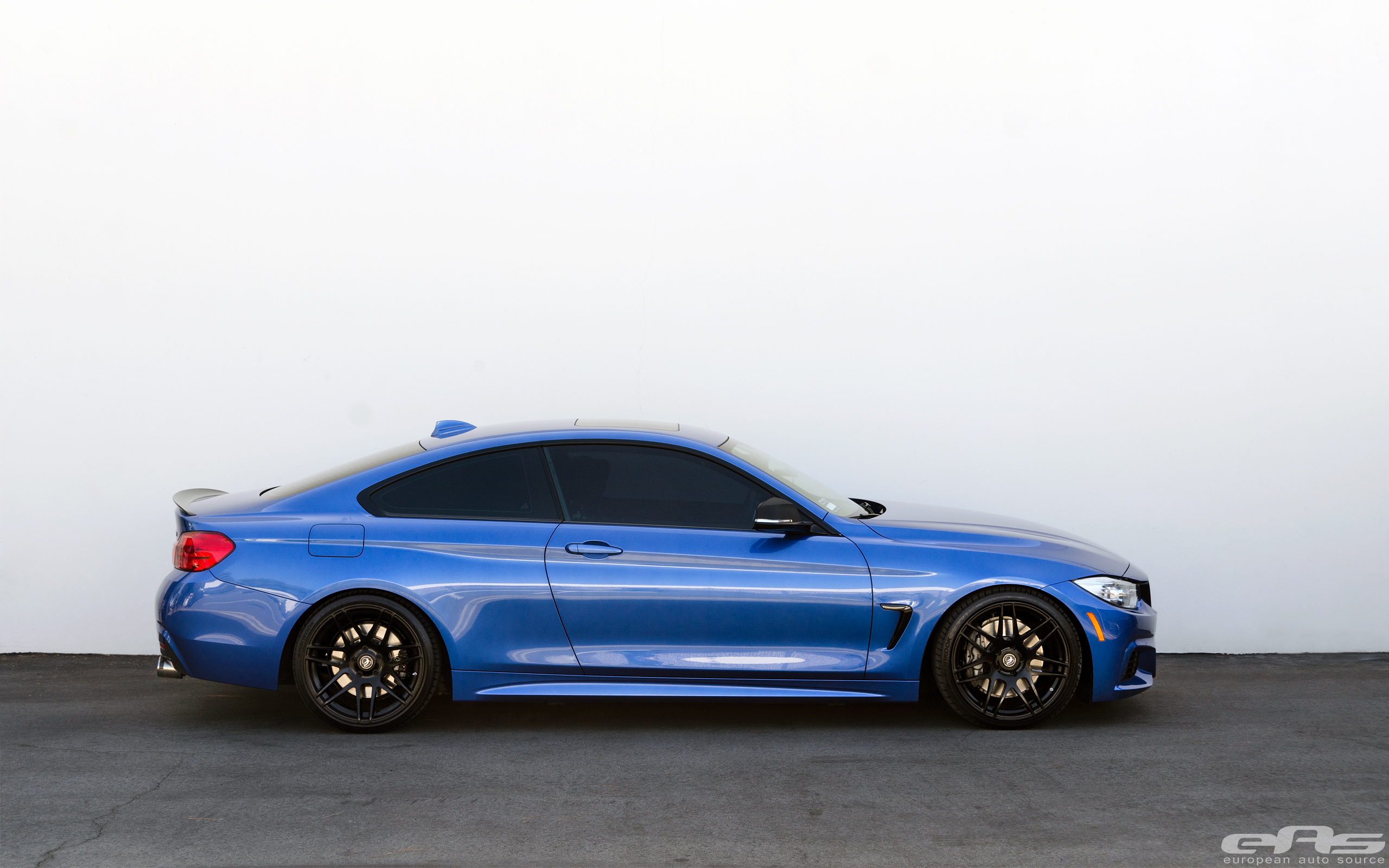 Lowered Estoril Blue 435i on Forgestar F14 Wheels | BMW ...