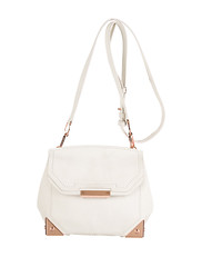 alexander wang marion flap shoulder bag rose gold white