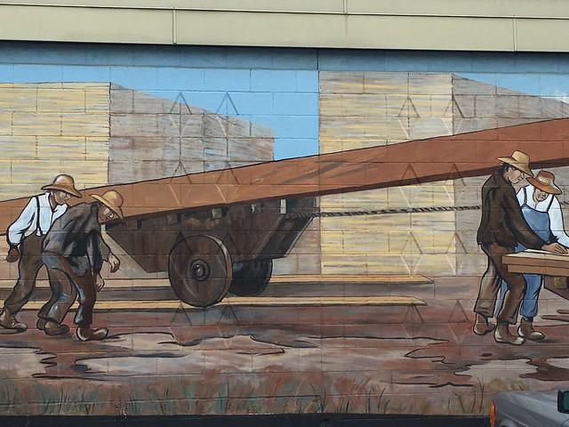Mural in Chemainus, BC