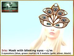 Bliensen - Iris - Mask with blinking eyes 1