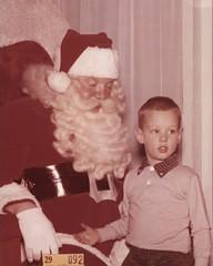 Santa and Mark -- Vintage 1959 Santa