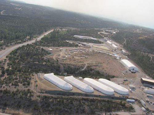 LANL Area G from the air, June 29, 2011