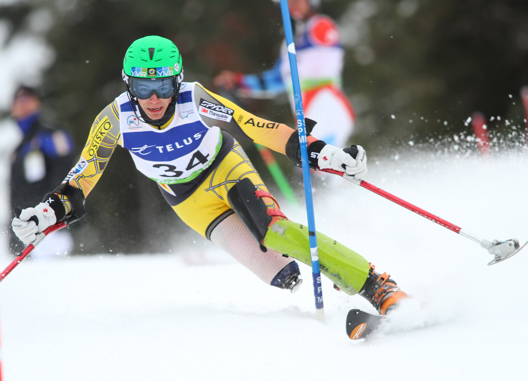 Braydon Luscombe in an IPC World Cup slalom in Panorama, B.C.