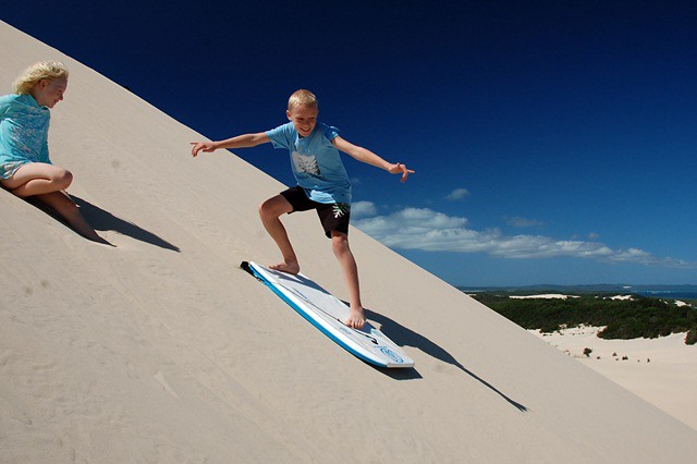 Dune surfing- Niall with Siobhan