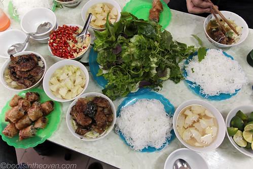 Our Bún chả (with nem cua bể)