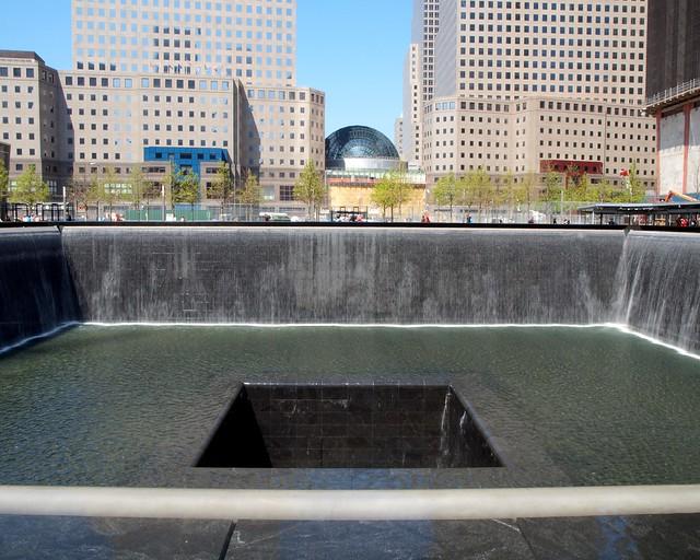 9 11 memorial north pool world trade center new york for Garden city pool new york