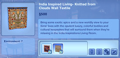 India Inspired Living- Knitted from Clouds Wall Textile