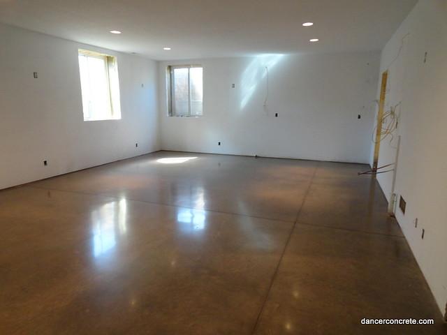 Polished Concrete Floor Residential Basement