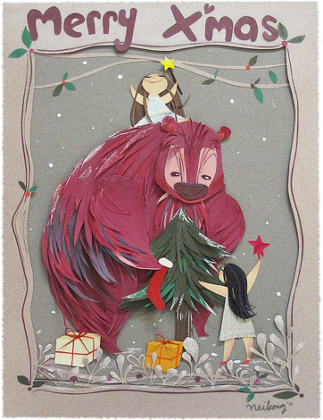 Papercraft - Pink bear
