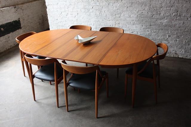 Breathtaking Johannes Andersen Danish Modern Teak Dining