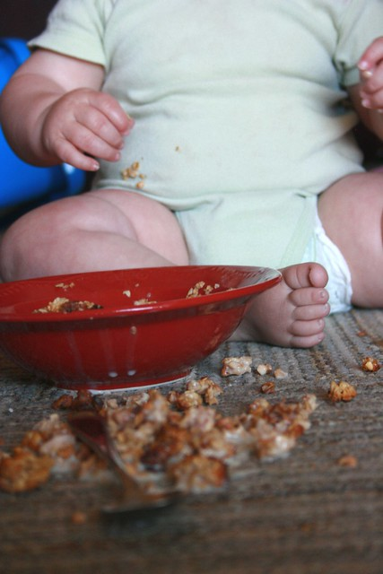 spilled granola
