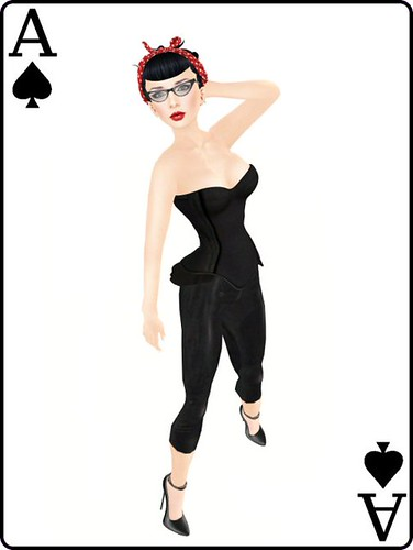Ace of spades pin-up
