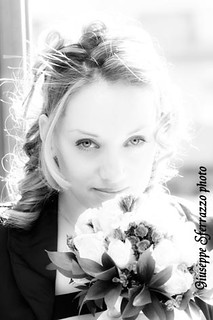 Wedding portrait in BW