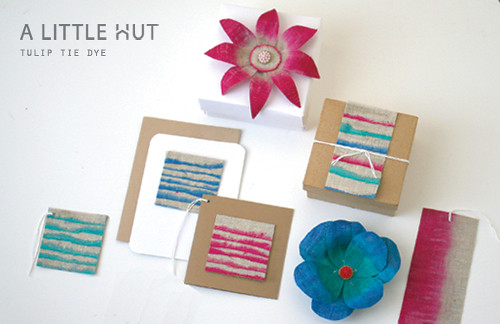 A Little HutPatricia Zapatatulip tie dye flowers and stationery