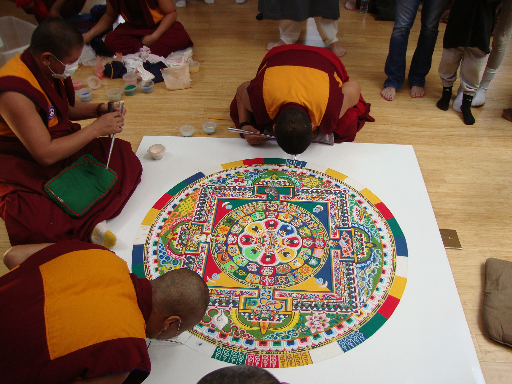 sand mandala at the Princeton Center for Yoga and Health, 5/12/12