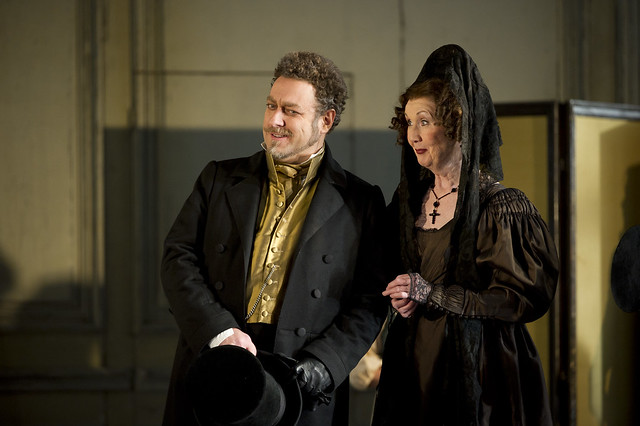 Carlo Lepore as Bartolo and Anna Murray as Marcellina in Le nozze di figaro © Bill Cooper/ROH 2012