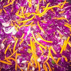 Hot-and-Sour Cole Slaw for tomorrow's work bbq.