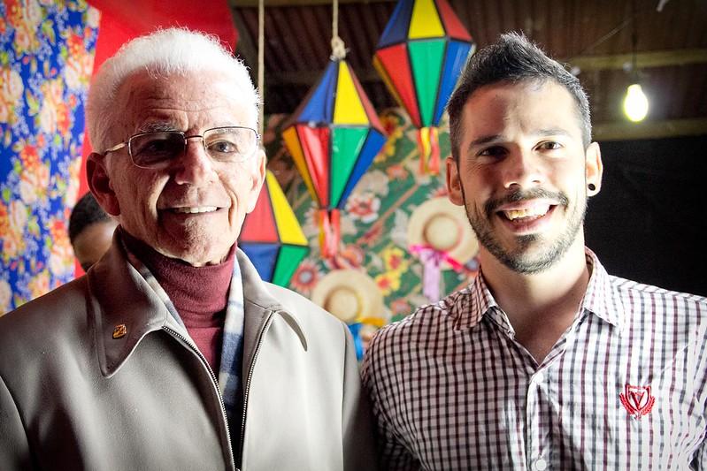 Duas gerações de compositores nordestinos. Onildo Almeida e Almério    Foto: Mariana Leal