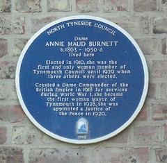 Photo of Maud Burnett blue plaque