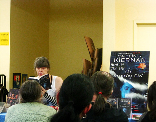 Kiernan reading from The Drowning Girl
