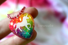 unicorn charm necklace handmade by isewcute by isewcute