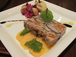 Chaya - Mushroom terrine with seasonal vegetables and persimmon