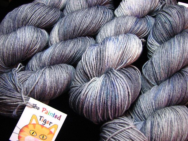 Storm Cloud - April 2014 Tiger Club - Merino Silk Sock Yarn