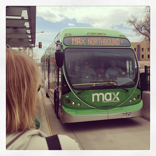 Second northbound #maxpremiere bus at University station. Rode it to the next station where we had to get off because it was over capacity to raise back up after kneeling, LOL! Walked the rest of the way to Old Town. Glad to see so much excitement though!