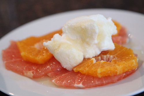 Sliced Grapefruit and Orange with Ricotta and Honey