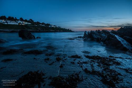 sunset sea seaweed beach nikon rocks dusk jersey channelislands d3000